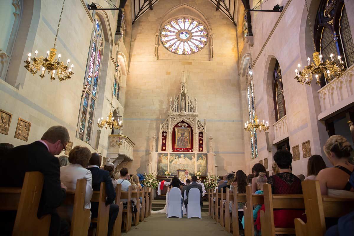 Islington church wedding interior shot