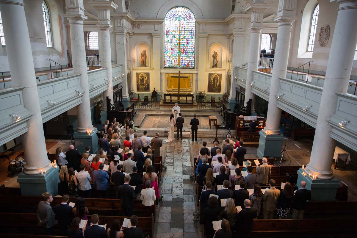 Wedding ceremony at Shoreditch church London