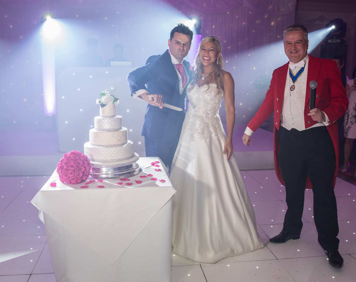 cake cutting shot Down Hall Country House