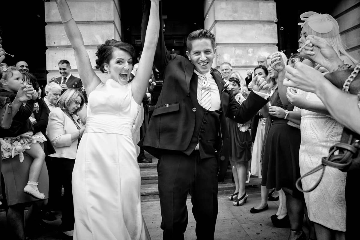 wedding celebrations at Camden Town Hall