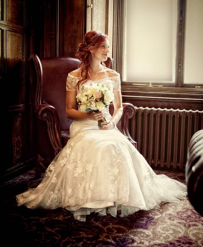 Kensington bride waits for groom to arrive