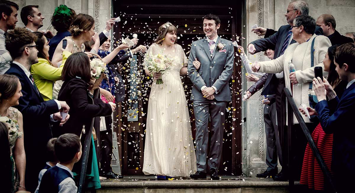 Another London confetti shot from Islington town hall