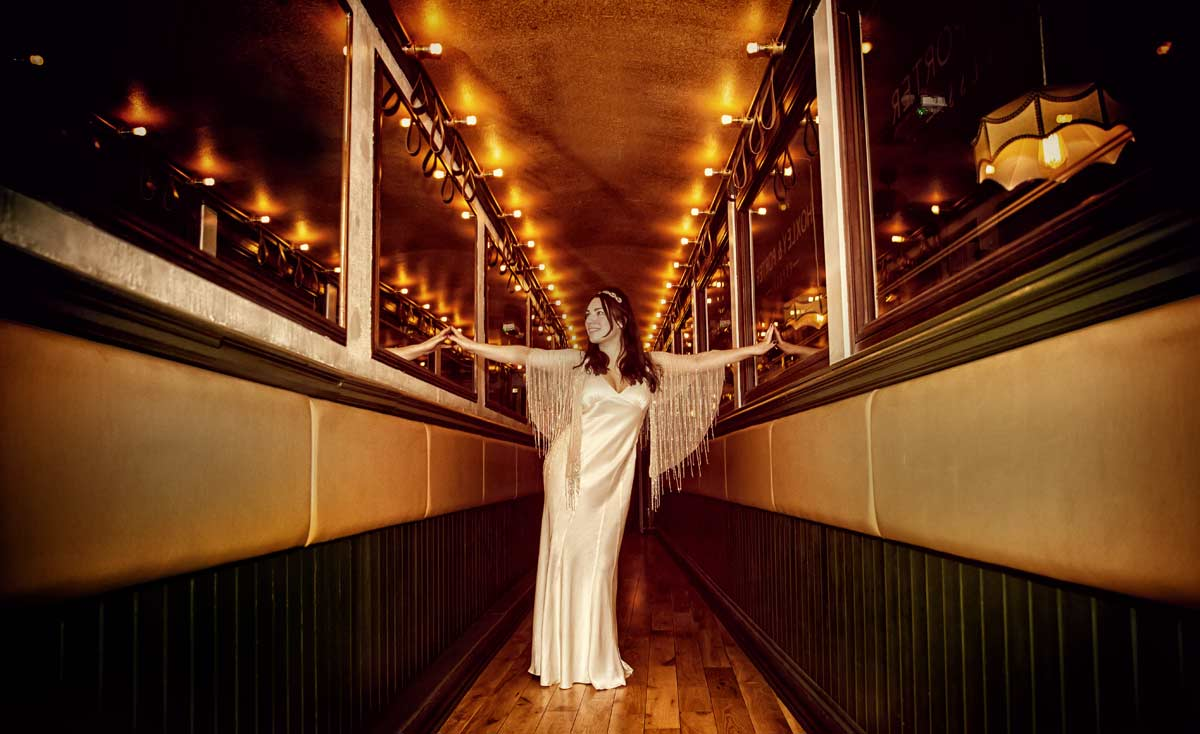 Bride from Islington wedding at Hoxley and Porter