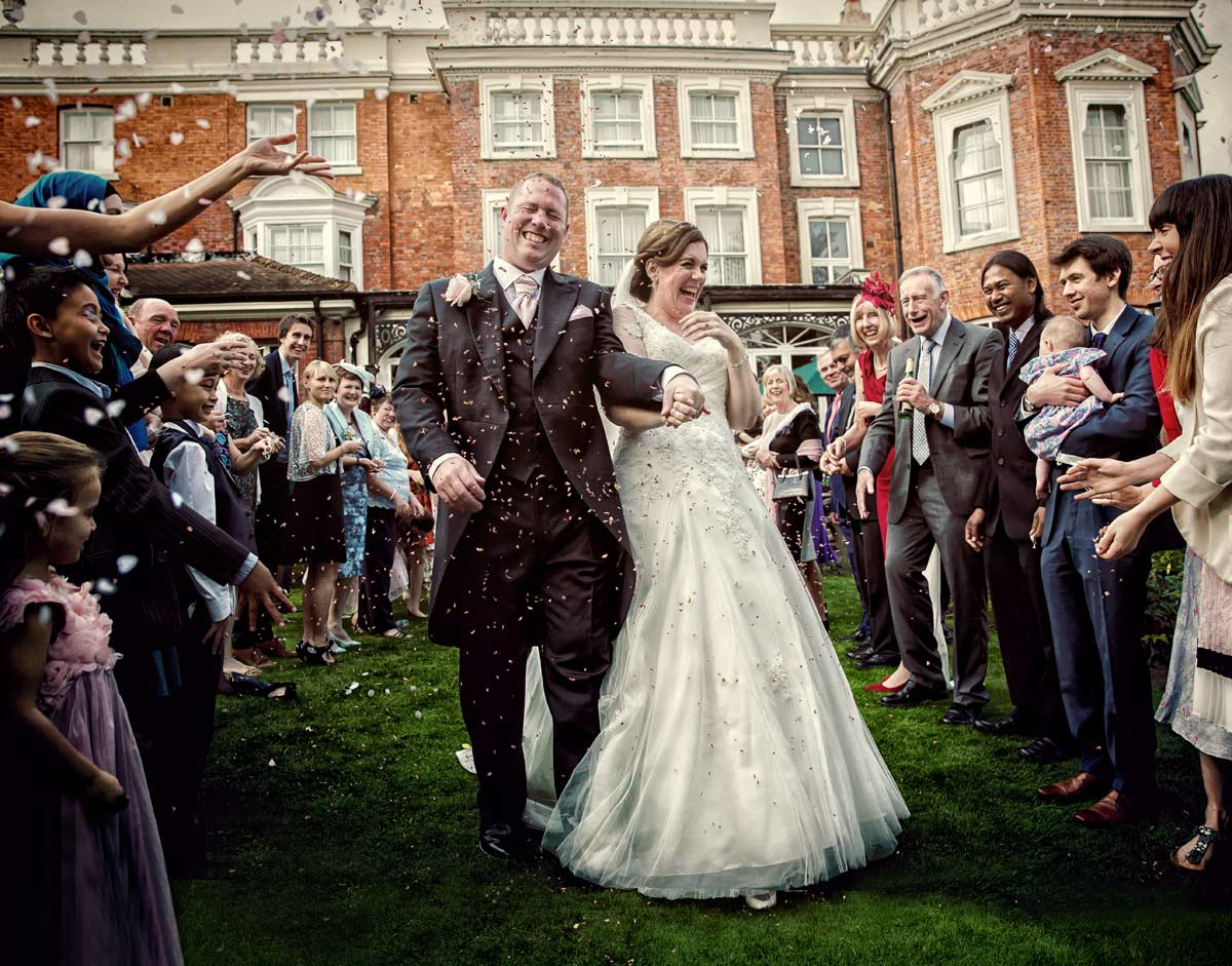 Confetti shot at Hendon Hall London