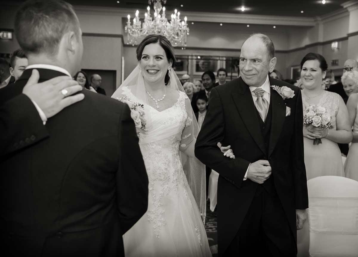 Wedding ceremony at Hendon Hall Hotel