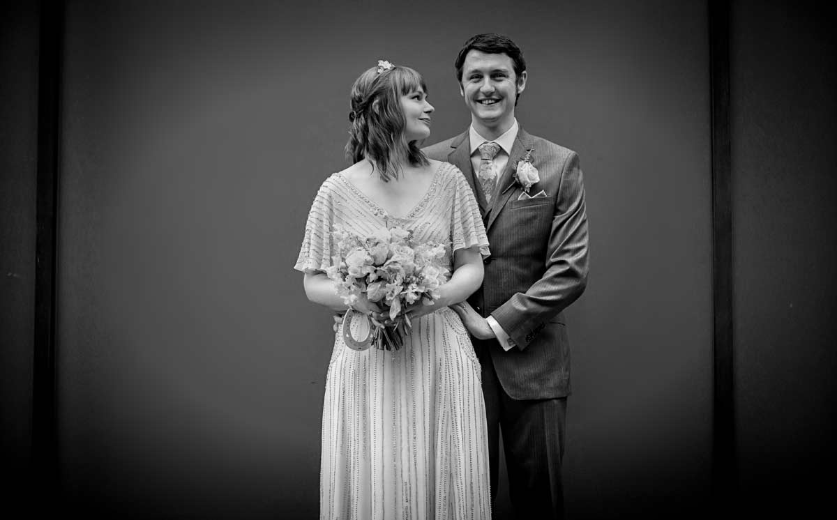 another wedding pose from London couple image