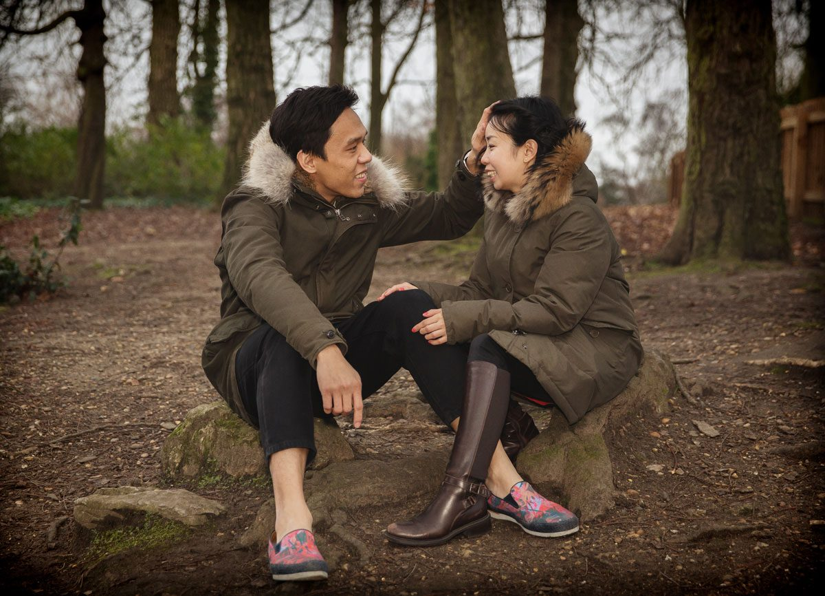 Highgate Woods engagement photographer image
