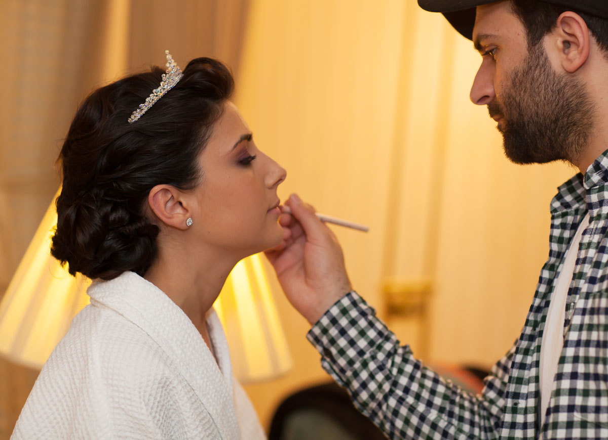 Makeover for the bride at The Landmark