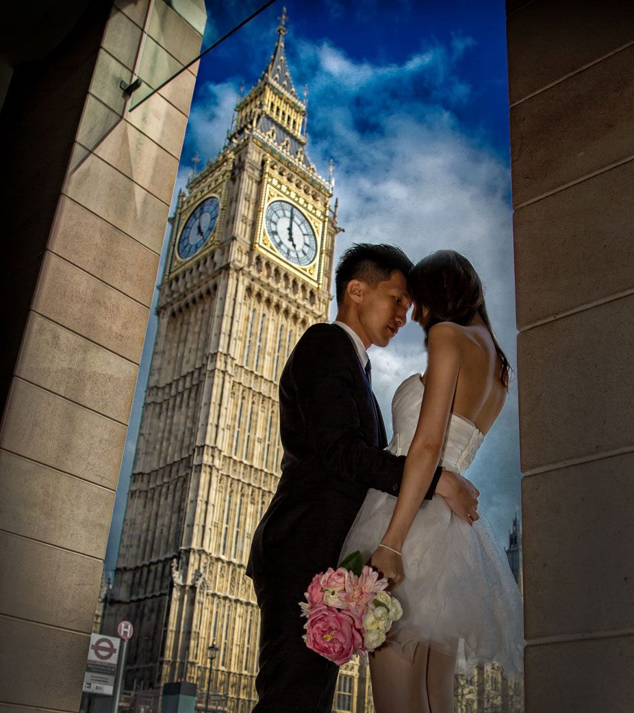 Wedding couple by Big Ben London photo