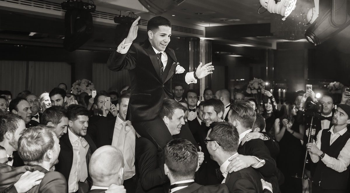 Jewish dancing at wedding Four Seasons London