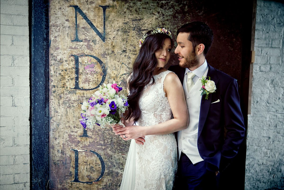 Couple photo from Islington Metal Works wedding