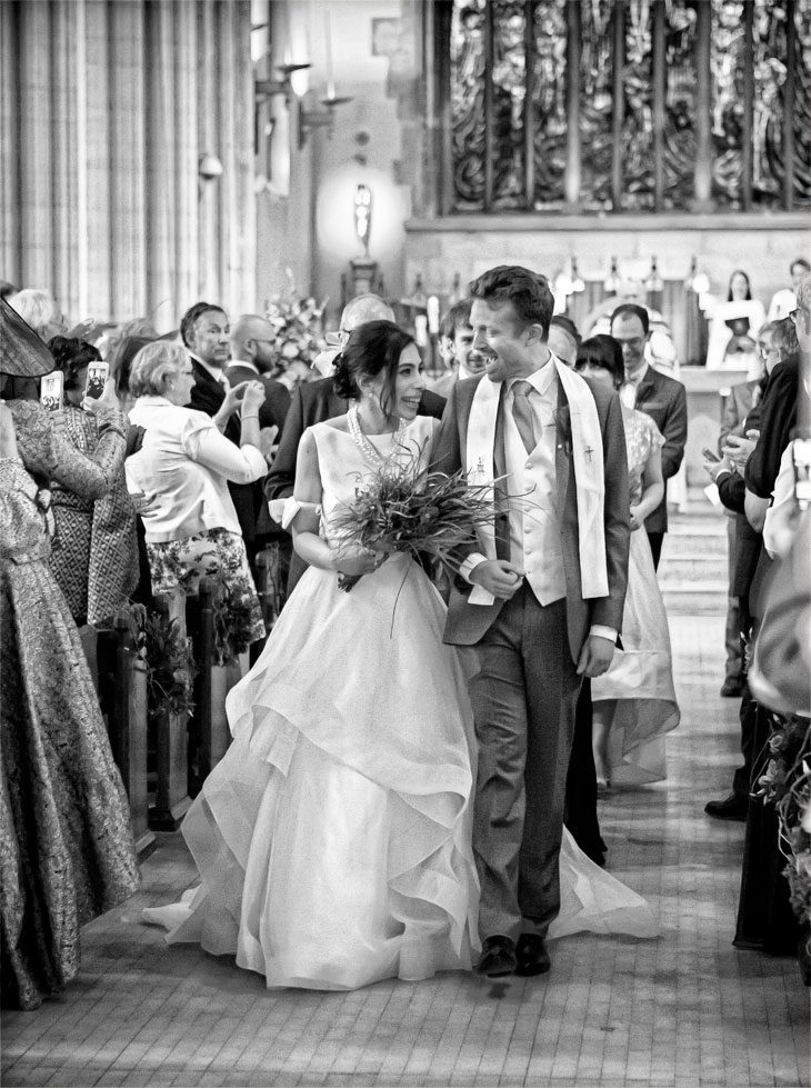 St George's Cathedral London wedding recessional photo