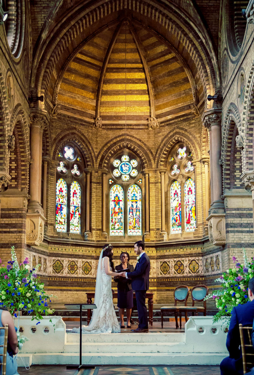Wedding vows at St Stephens Hampstead London