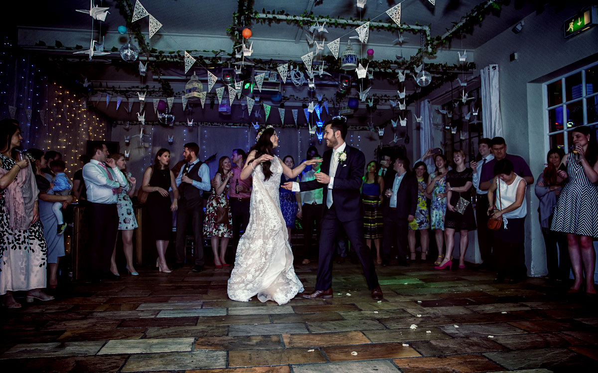 couple's first dance at Islington Metalworks wedding
