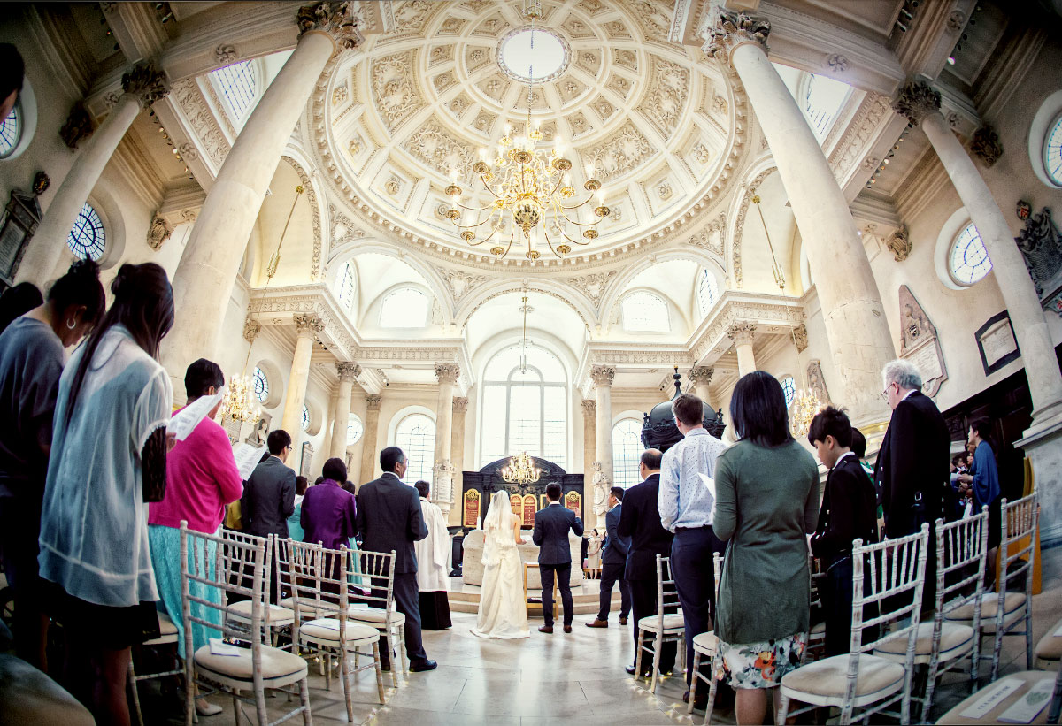 Wedding at St Stephens Walbrook London photo