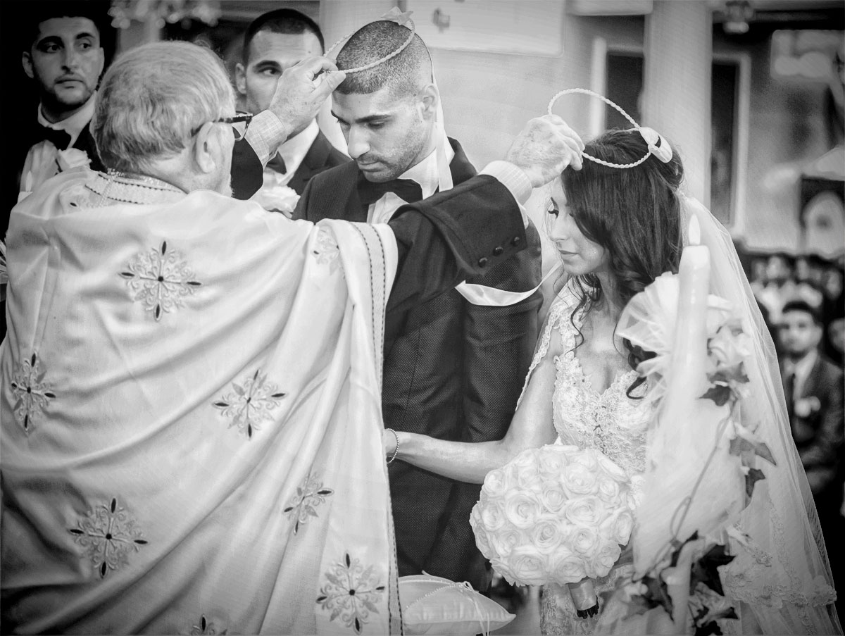 Greek wedding ceremony All Saints Camden London