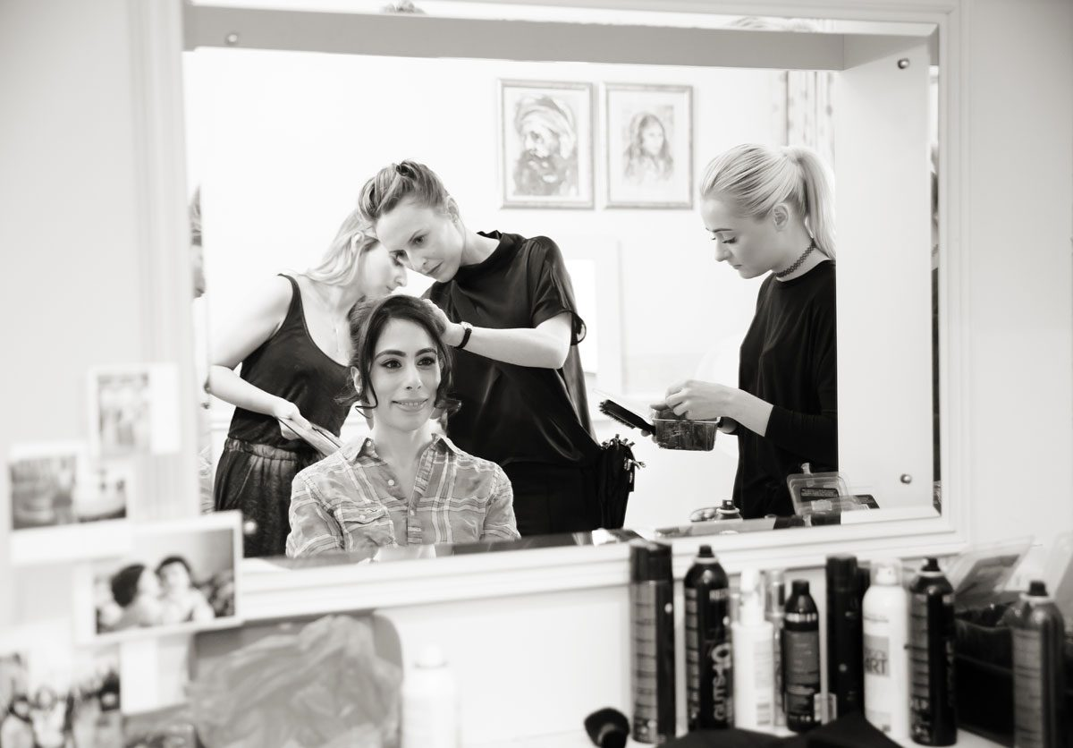 Bridal prep for Oxo Tower wedding image
