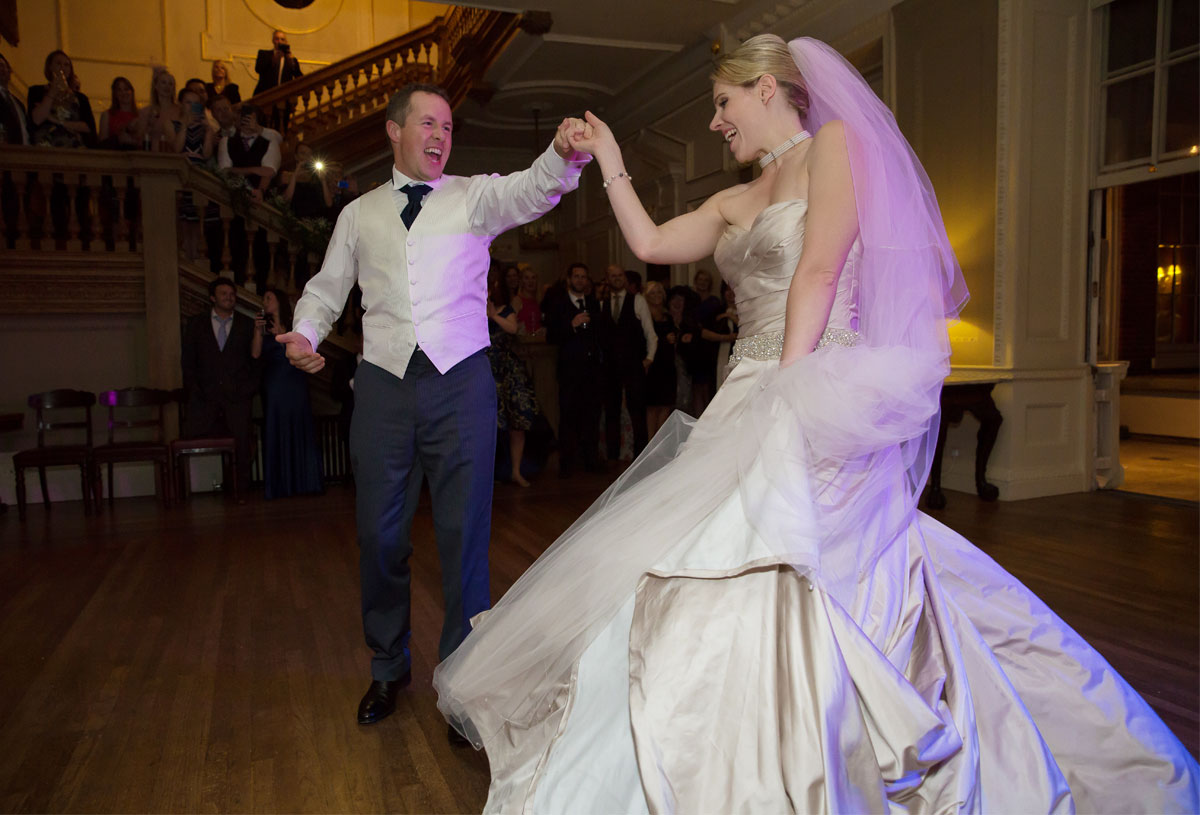 First dance at Skinners Hall wedding London