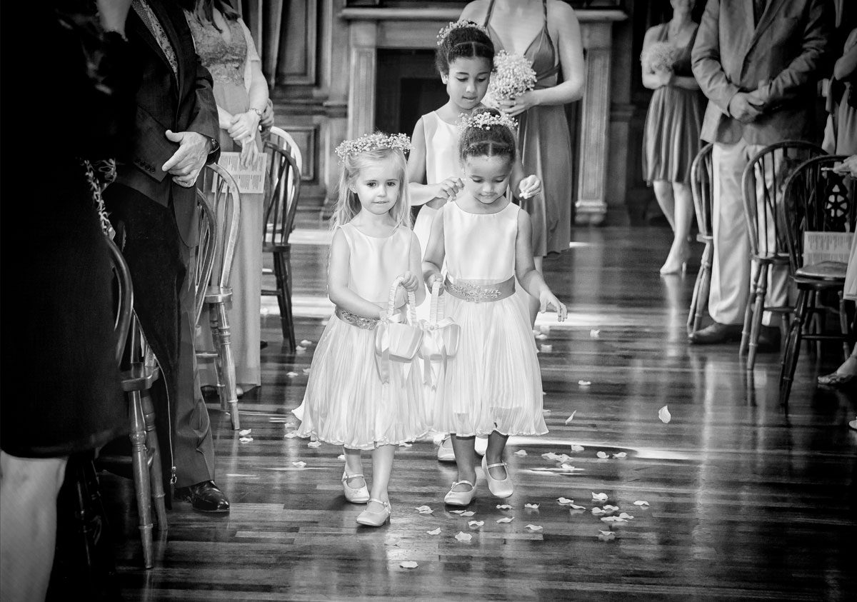 Flower girls at Honourable Royal Artillery London Wedding