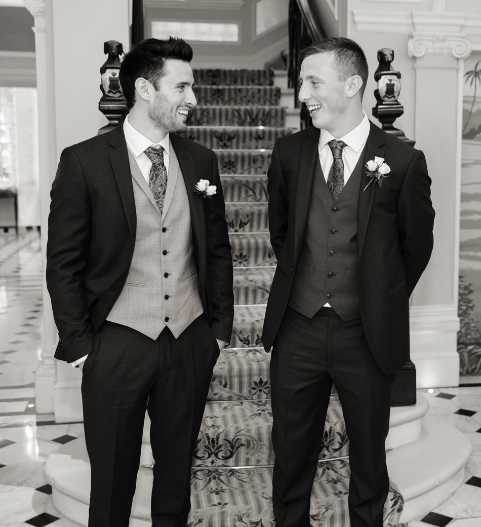 Groom and best man at Goring Hotel photo