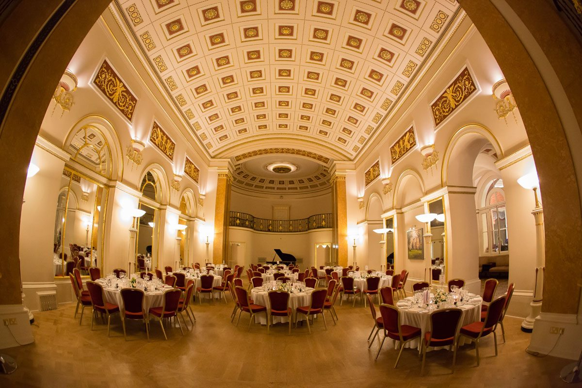 Lansdowne club ballroom wedding reception area image