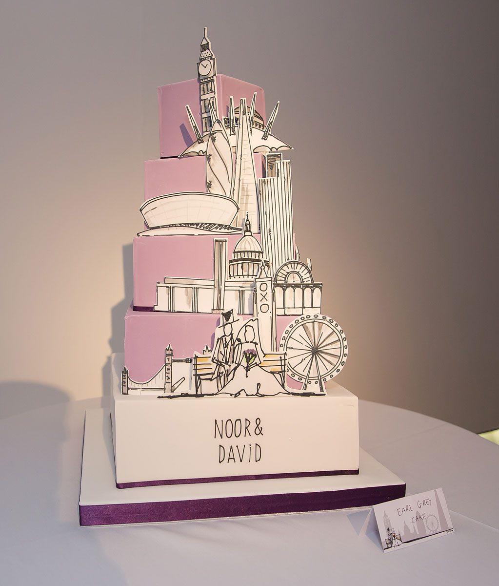 London Oxo Tower wedding cake photo
