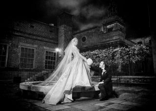 Skinners Hall Wedding photographers image at night