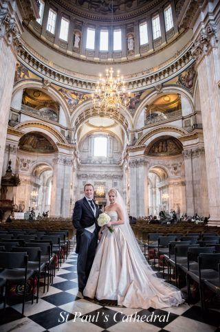 St Pauls Cathedral wedding photographers image