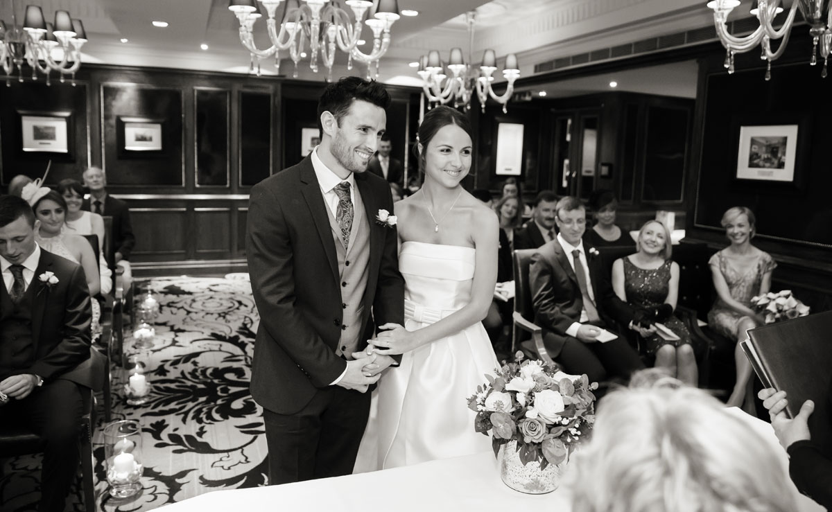 Wedding ceremony photo at The Goring Hotel central London