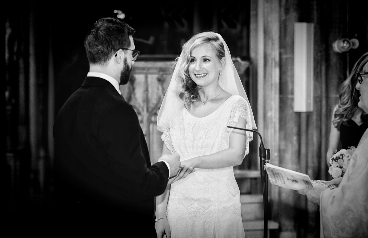 Wedding vows at Farm Street Church Mayfair London image