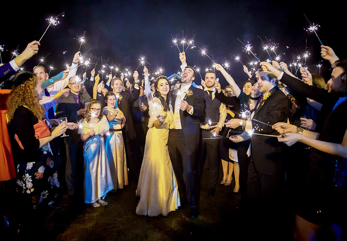 Sparklers-at-Grovefield-House-wedding