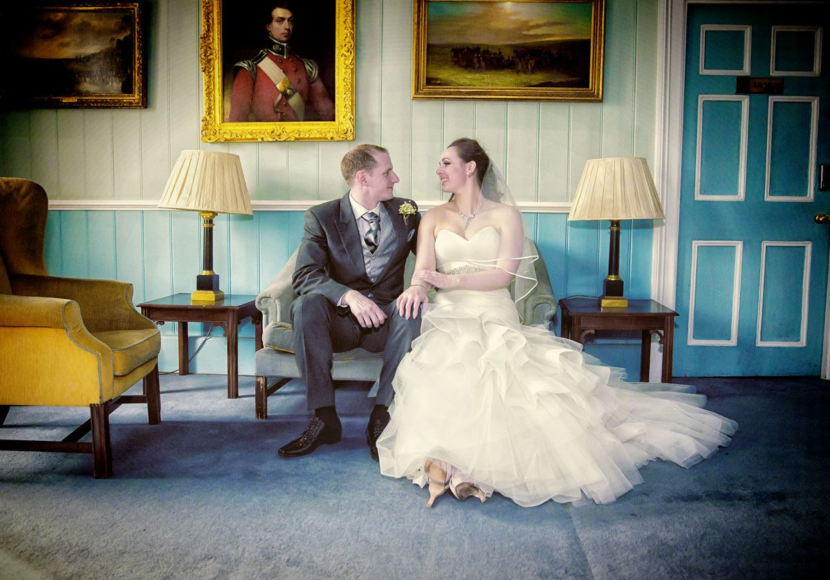 Bride and groom at Armoury House wedding
