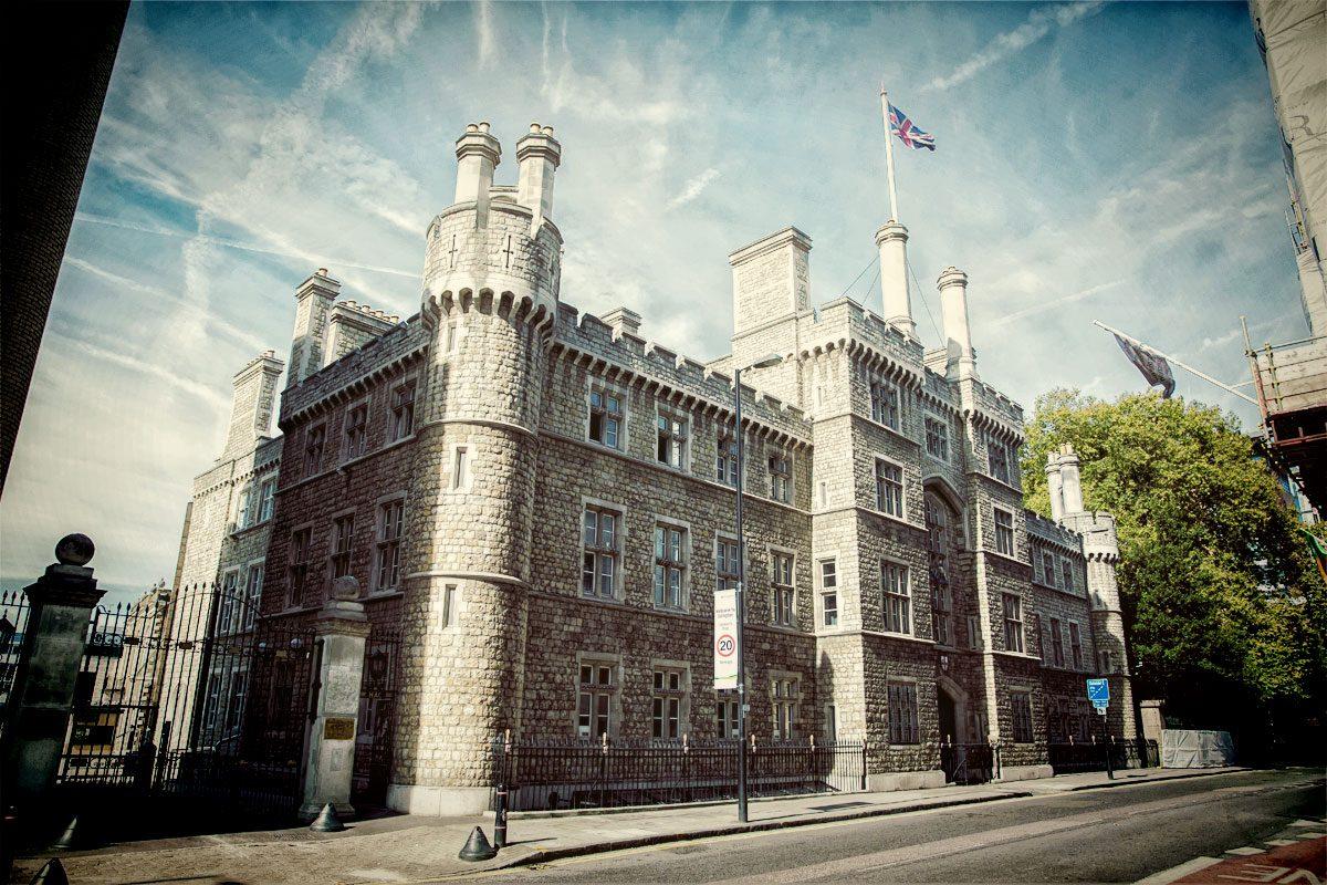 Honourable Artillery Company Building photo taken on London wedding day