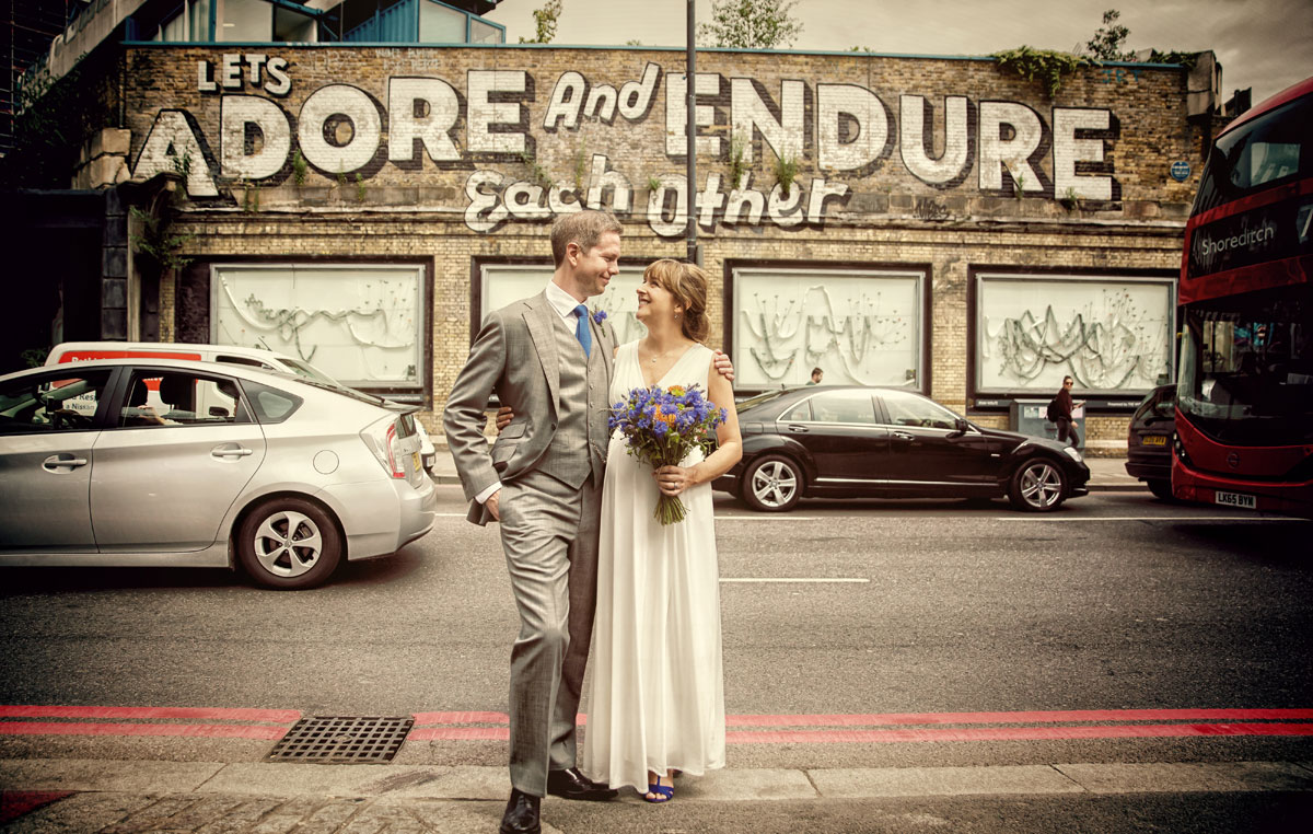 Lets adore and endure each other photo London wedding