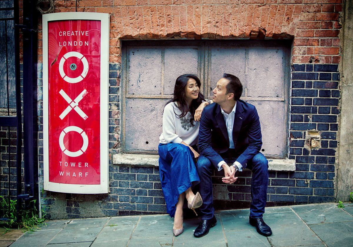 Engagement shoot at London's Oxo Tower and Southbank
