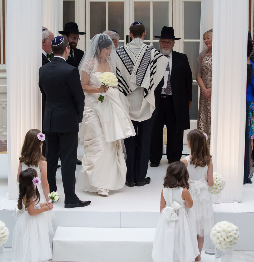 Jewish wedding ceremony at London Waldorf Hilton hotel