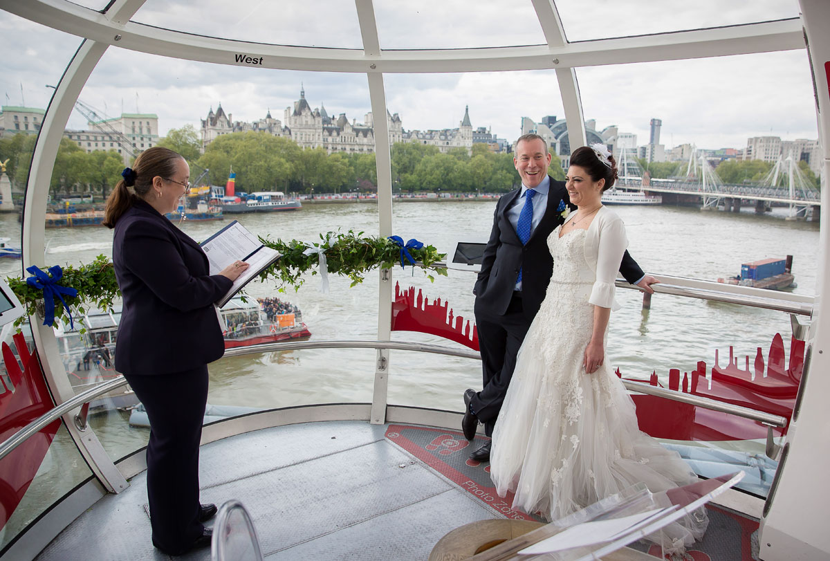 London Eye Wedding ceremony photo