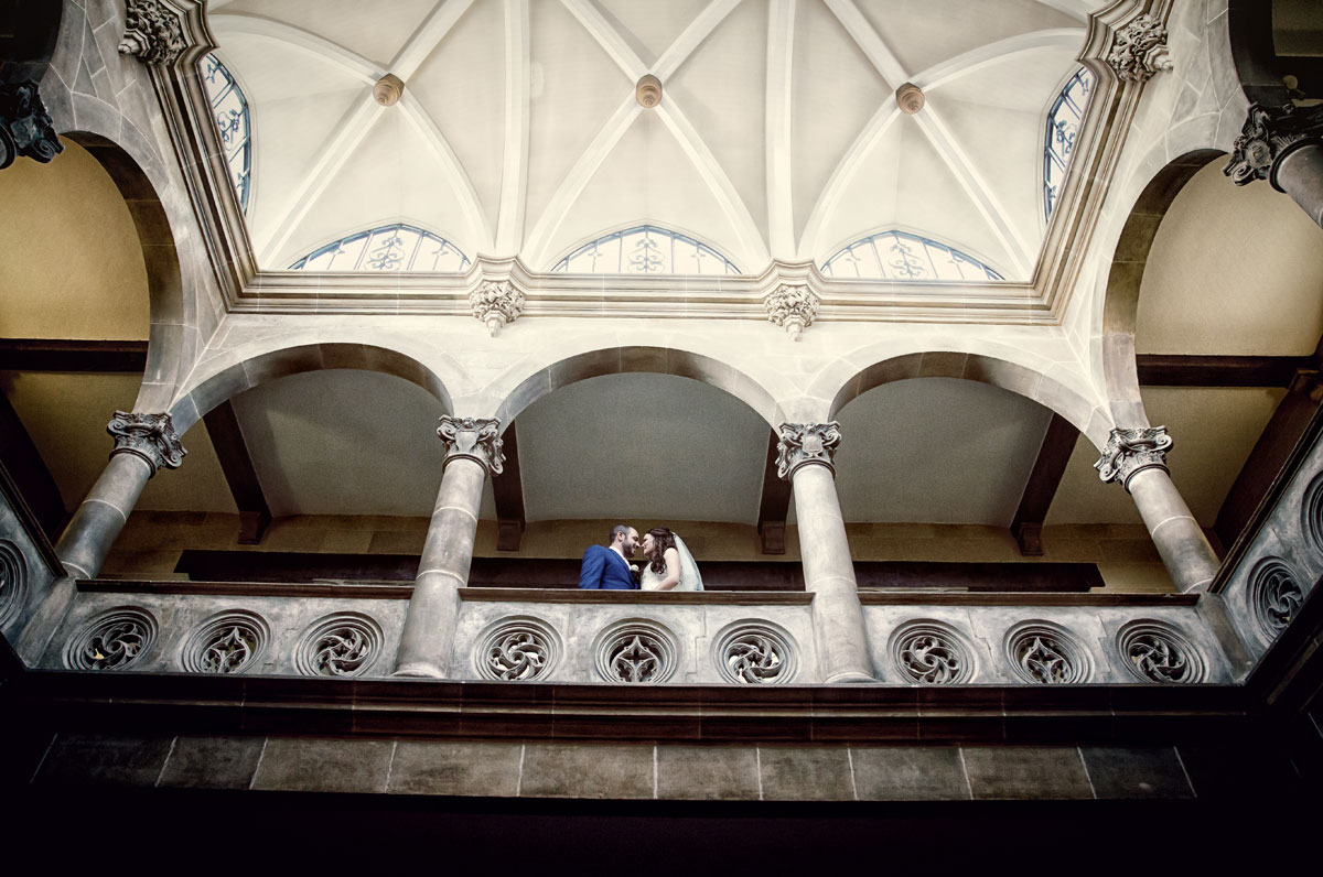 Northcote House wedding photographers balcony photo