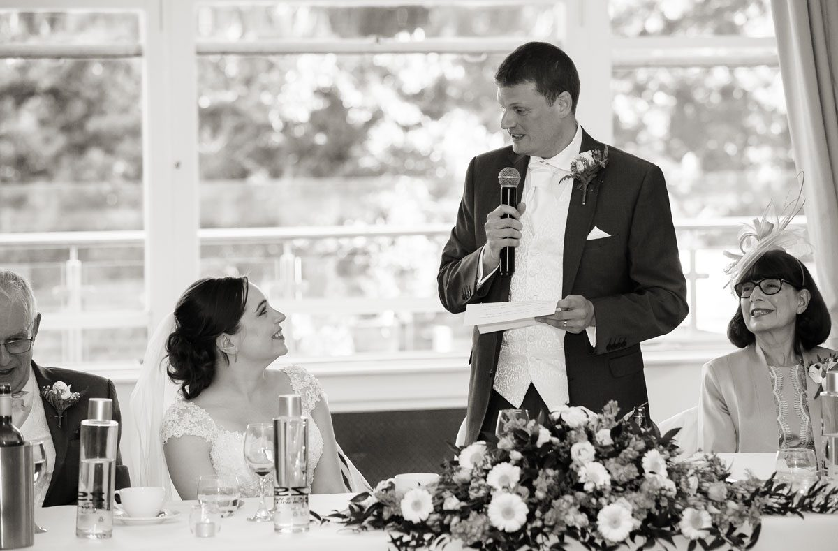 Wedding speeches at London Zoo