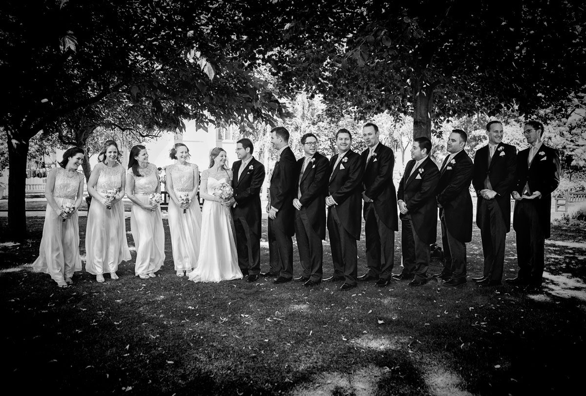 Bridal party by St Lukes Chelsea wedding
