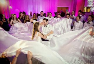 Jewish dancing at Shendish Manor wedding reception