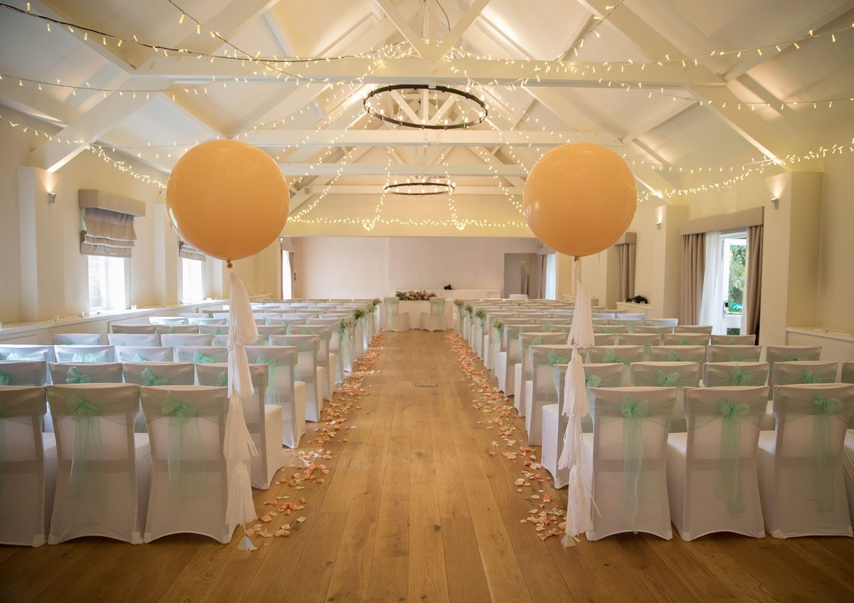 Barn wedding ceremony room at Stokes Place Hotel