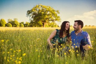 Hertfordshire engagement shoot image at Trent Park
