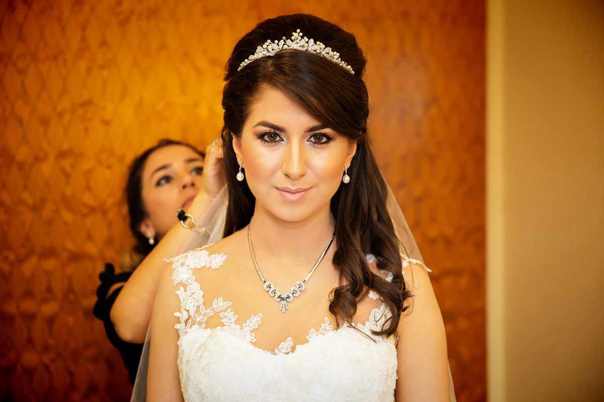 Bride gets ready at Connaught Rooms London wedding prep
