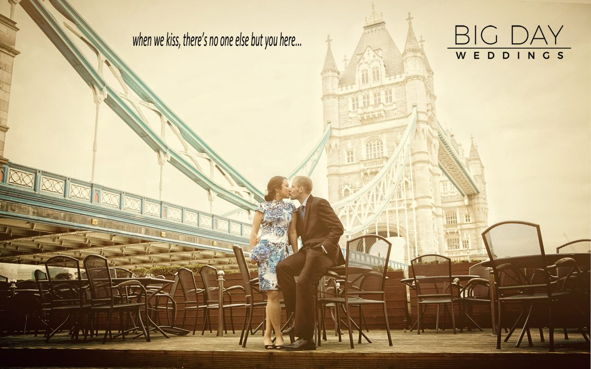 Wedding-couple-kiss-under-Tower-Bridge-London-photo