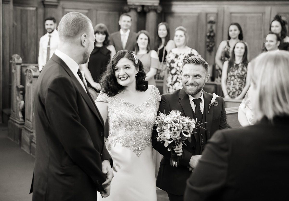 First look at Islington Town Hall wedding ceremony