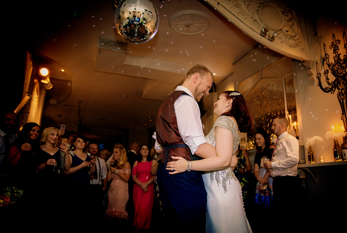 Islington wedding first dance at Dead Dolls House London