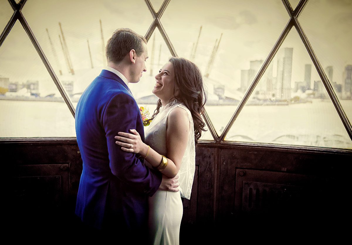Trinity Buoy Wharf wedding photographers, and a sky full of stars London Wedding Photographers