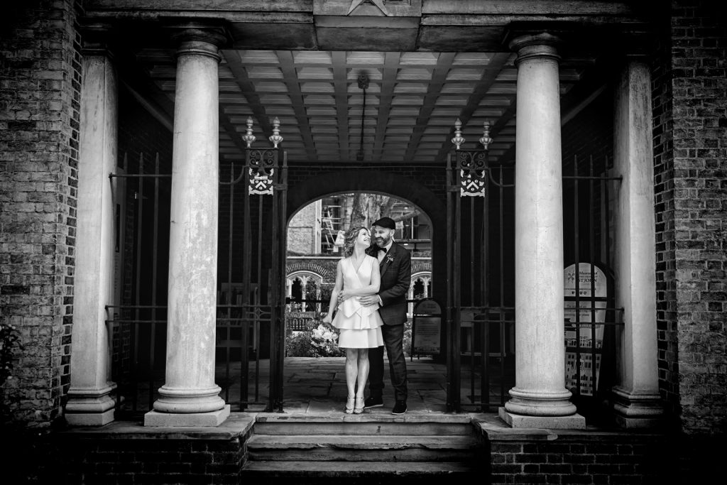 Bride and Groom St Johns Square Clerkenwell