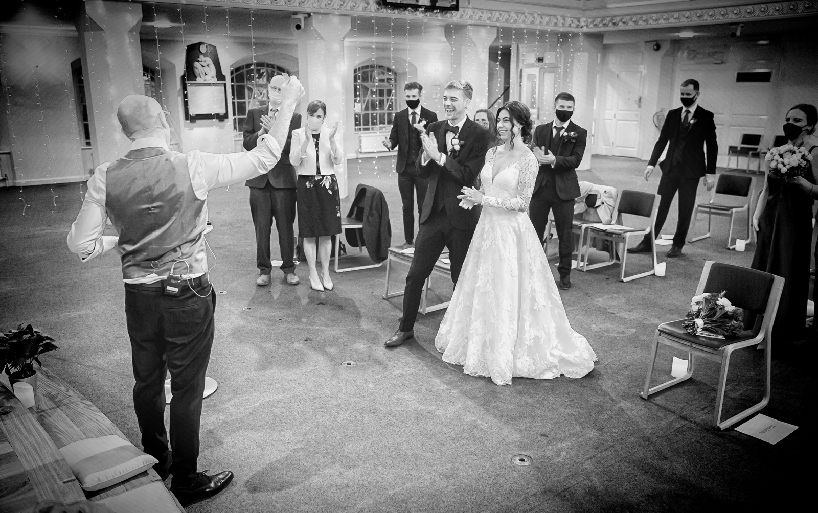 All Souls Church Wedding London - with plenty of social distancing joy! London Wedding Photographers